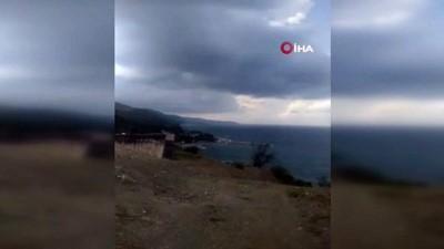Sinop'ta çıkan hortum korkuttu