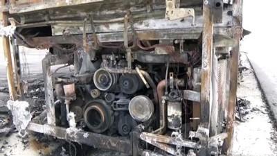 Yolcu otobüsü yandı - AKSARAY