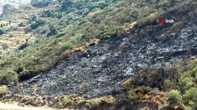 makilik alan -  Acı bilanço gün ağarınca ortaya çıktı: 9 saat süren yangında 10 hektar kül oldu