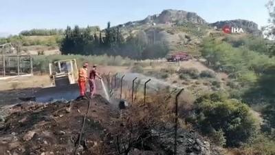 Arap Beleni'nde çıkan anız yangını ormana ulaşmadan söndürüldü