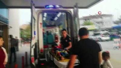 Bursa'da dehşet anları kamerada... Annesinin elinden kaçan çocuğa otomobil böyle çarptı
