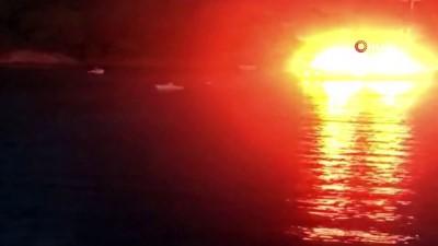 Fethiye'de gulet teknede yangın; 1 ölü, 4 yaralı