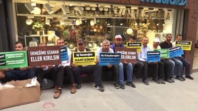 isten cikarma - İBB'den işten çıkarılan bazı işçiler CHP İstanbul İl Başkanlığı önünde oturma eylemi başlattı - İSTANBUL