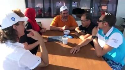 Rusya'dan Türkiye'ye gelip, ruhun yelkenlerinde buluştular Haberi