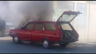 Demirköy'de otomobil yangını - KIRKLARELİ