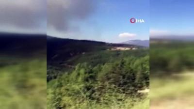 yangin yeri -  Kaş'ta orman yangını