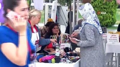 Kadınların el emeği göz nuru ürünleri görücüye çıktı