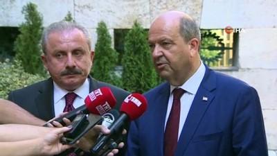 TBMM Başkanı Mustafa Şentop, KKTC Başbakanı Ersin Tatar ile görüştü