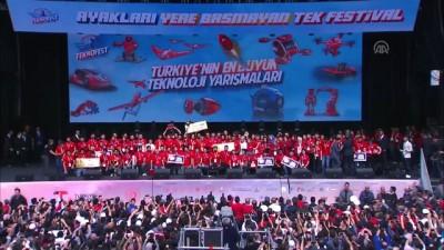 iletisim - Cumhurbaşkanı Erdoğan TEKNOFEST İstanbul ödül törenine katıldı (5) - İSTANBUL