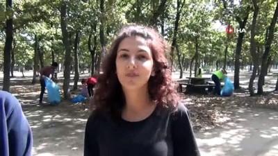 Ergene Belediyesi gönüllülerle el ele verdi, Velimeşe Korusu'nu temizledi