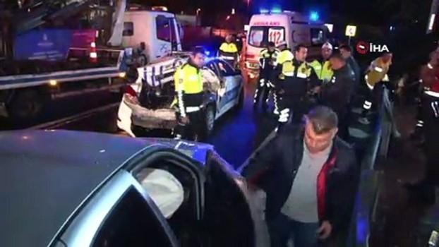 felaket -  Kaza yerine gelen polis aracına başka bir otomobil çarptı Video
