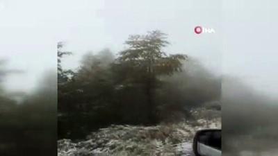 mersin -  Macahel'e mevsimin ilk karı yağdı