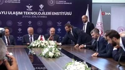 Raylı Ulaşım Teknolojileri Enstitüsü'nün kurulmasına ilişkin imzalar atıldı