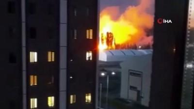 ilginc goruntu -  Sivas'ta korkutan yangın: Ortaya çıkan görüntü paniğe neden oldu