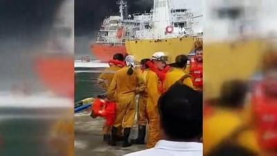 - Güney Kore'de Kargo Gemisinde Yangın