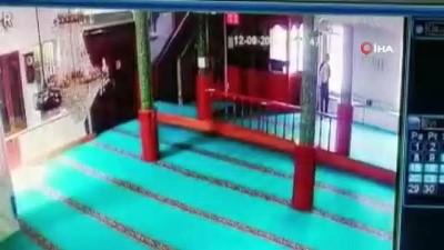 cami imami -  Sırtında çuvalla geldi, caminin ses sistemini böyle çaldı