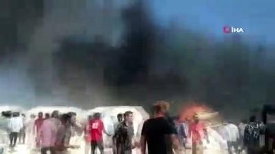 - Azez'deki Mülteci Kampında Dev Yangın: 4 Yaralı