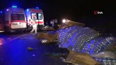 hamile kadin -  Başkent'te yolcu otobüsü, devrilen TIR'a çarptı: 1 yaralı
