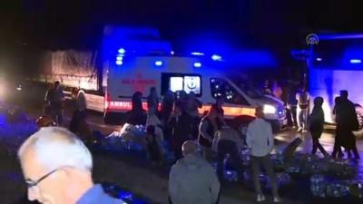 hamile kadin - Başkentte tır devrildi: 1 yaralı - ANKARA