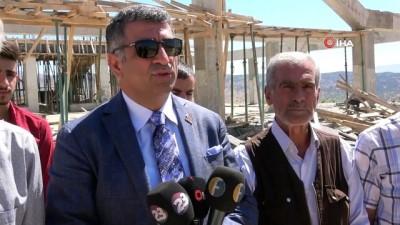 insaat alani -  Milletvekili Erol devreye girdi, yarım kalan şehit Fethi Sekin Külliyesi tamamlanacak