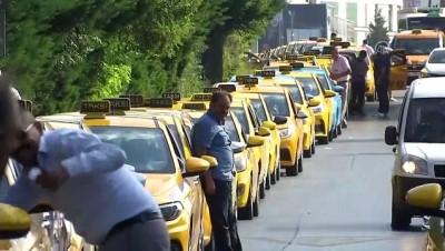 Taksimetre ayarı için kilometrelerce kuyruk oluştu - İSTANBUL