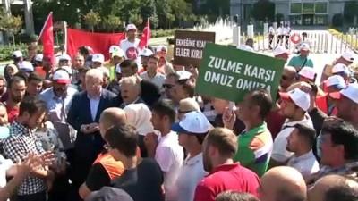 isten cikarma -  AK Parti Grup Başkanvekili Muhammet Emin Akbaşoğlu, İBB önündeki eyleme destek verdi
