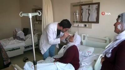Bismil'de katarakt ameliyatı olan 30 kişi tekrar görmeye başladı