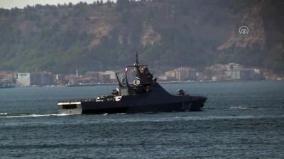 Rus askeri gemileri Çanakkale Boğazı'ndan geçti - ÇANAKKALE