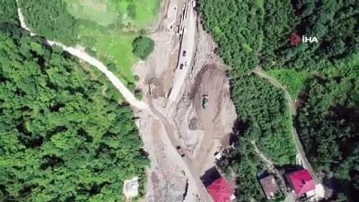 felaket -  8 kişinin hayatını kaybettiği, 2 kişinin kaybolduğu bölgede evlerin yıkımına başlandı