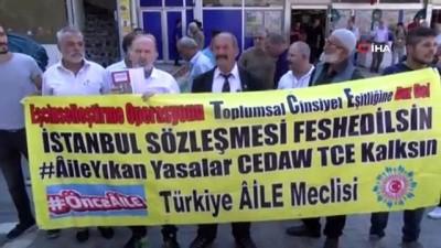 Türkiye Aile Meclisinden İstanbul Sözleşmesine tepki eylemi