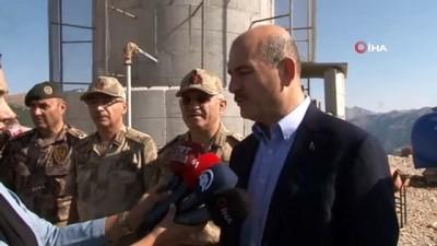 İçişleri Bakanı Süleyman Soylu yaşam alanlı kulelerde görev yapan güvenlik güçleriyle bir araya geldi