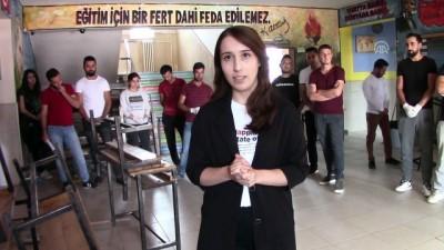 Fedakar öğretmenler okulu yeni eğitim yılına hazırladı - VAN
