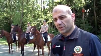 Ormanların atlı koruyucuları yangınlarına karşı teyakkuzda