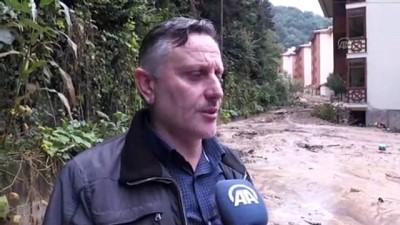 koy yollari - Rize'de şiddetli yağış