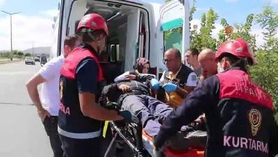 Şarampole uçan otomobil takla attı:1 yaralı