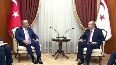"""- Bakan Çavuşoğlu, KKTC Başbakanı Tatar ile görüştü - Bakan Çavuşoğlu: """"Türkiye Kıbrıs Türk halkına desteğini arttırarak sürdürecektir"""""""