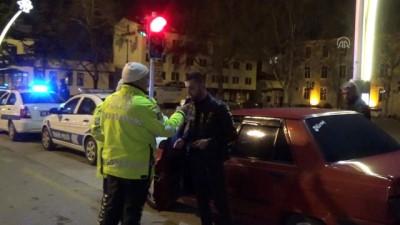 Polisler görev başında yeni yıla girdi - TOKAT