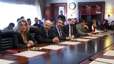 Basın yayın şube müdürlüğü çalışanları Ankara Büyükşehir Belediye Başkanı Mansur Yavaş'ı ziyaret etti