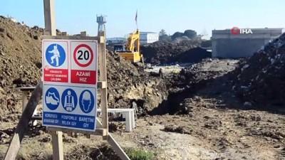 Hastane inşaatında toprak kayması: 2 yaralı
