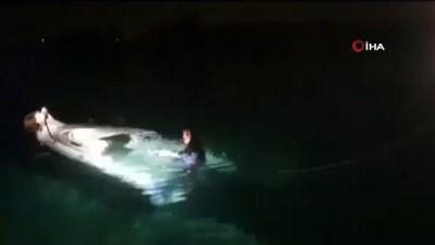 Çeşme'de batan tekneden ilk görüntüler