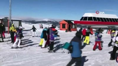 kis turizmi -  Sarıkamış Kayak Merkezi hafta sonu doldu taştı