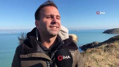 amator -  Marmara Denizi'nde su samuru heyecanı