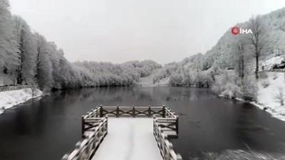 Tabiat Parkı Ulugöl'de muhteşem kar manzarası