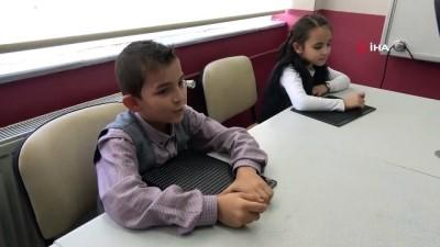 Cumhurbaşkanı Erdoğan ile görüşen görme engelli öğrenciler o anları anlattı