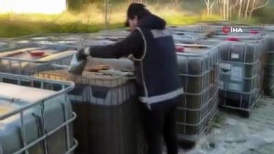 İzmir'de 107 bin 300 litre kaçak akaryakıt ele geçirildi
