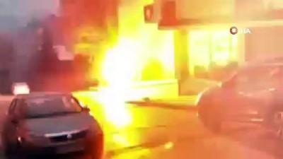 Sultangazi'de elektrik kabloları havai fişek gibi patladı