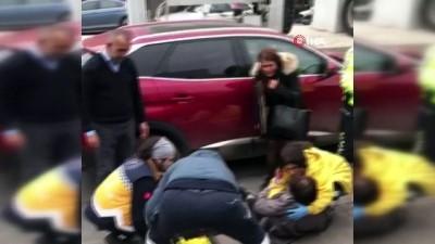 en yasli kadin -  Çekicinin çektiği araçtan düşüp ağır yaralandı