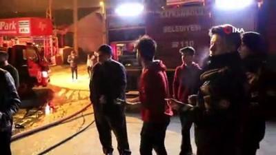 sanayi sitesi -  Döşemeci dükkanında çıkan yangın itfaiye ekipleri tarafından söndürüldü