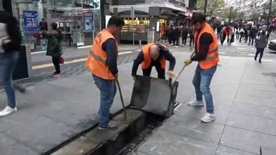alabalik -  İstiklal Caddesi'ne ilk kazma vuruldu