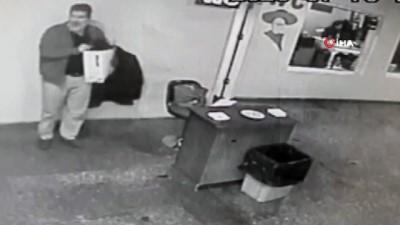 AŞTİ'de cep telefonu hırsızlığı kamerada